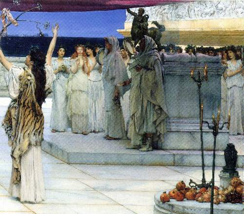 Alma-Tadema - A consecration of Bacchus, detail [2]